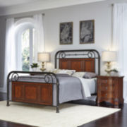 Mulhouse Bed and 2 Nightstands