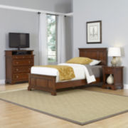 Newport Twin Bed, Nightstand and Media Chest