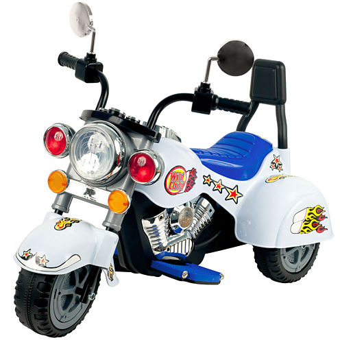 Lil' Rider 3-Wheeler White Ride-On Marauder Motorcycle