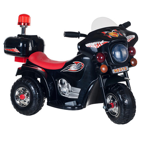 Lil' Rider Black 3-Wheel Battery-Powered SuperSport Ride-On Motorcycle
