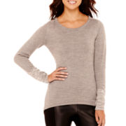nicole by Nicole Miller® Long-Sleeve Stitch-Detail Sweater