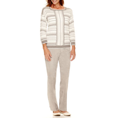 jcpenney.com | Alfred Dunner® Alpine Lodge Striped Sweater or Corduroy Pants