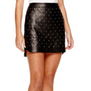 BELLE + SKY™ Stud-Front Faux-Leather Skirt