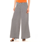 Bisou Bisou® Tie-Waist Wide-Leg Soft Pants