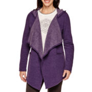 Made For Life™ Fleece Flyaway Hoodie Cardigan - Tall