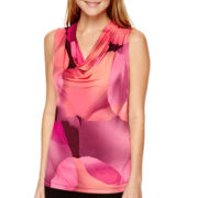 Worthington® Sleeveless Cowlneck Top - Tall