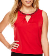 Worthington® Sleeveless Embellished Blouse