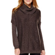 ANA ® Long-Sleeve Cowlneck Poncho Sweater