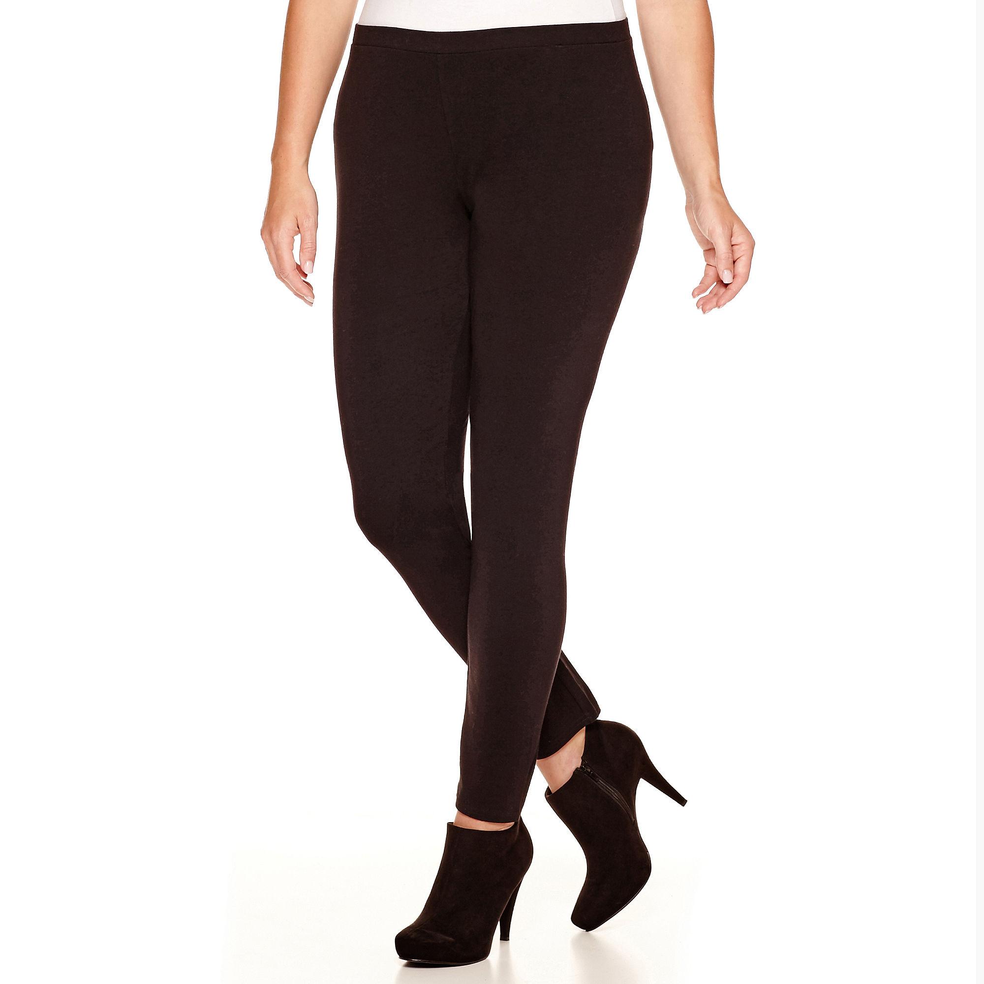 a.n.a Knit Leggings - Plus plus size,  plus size fashion plus size appare