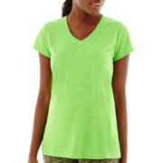Xersion™ Short-Sleeve V-Neck Melange T-Shirt