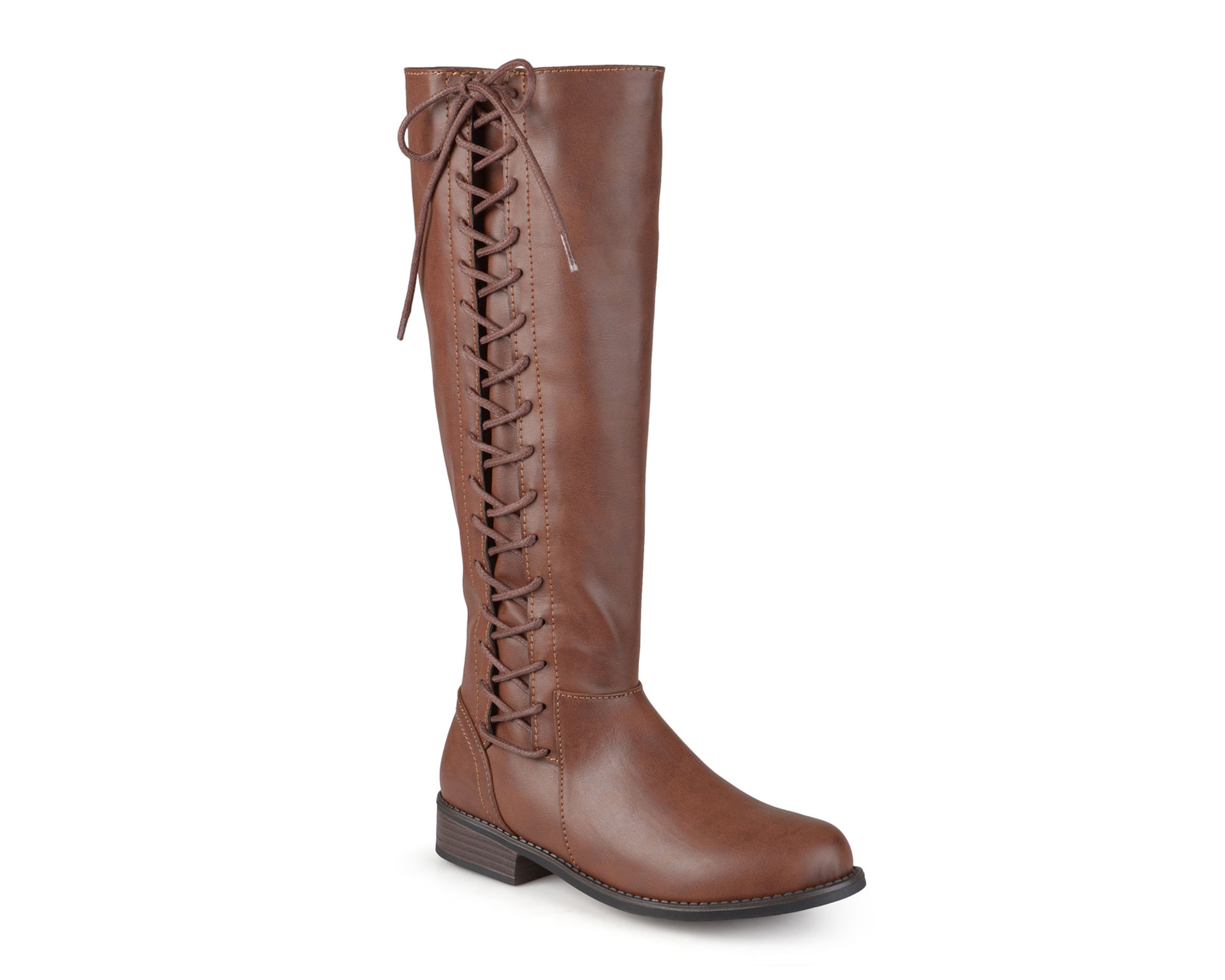 Journee Collection Cinch Wide Calf Womens Riding Boots