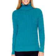 St. John's Bay® Long-Sleeve Essential Turtleneck Sweater