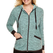 Made For Life™ Streaky French Terry Jacket - Petite