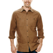 St. John's Bay® Long-Sleeve 2-Pocket Chamois Shirt