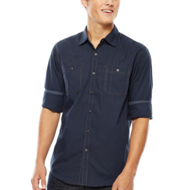 jcpenney.com | Michael Brandon® Roll-Sleeve Shirt