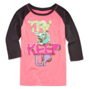 Xersion™ 3/4-Sleeve Graphic Tee - Girls 7-16 and Plus