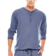 IZOD® Sueded Jersey Henley Sleep Shirt