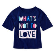 Okie Dokie® Drop-Shoulder Tee - Toddler Girls 2t-5t