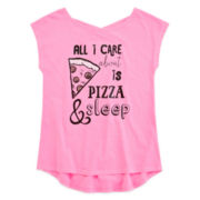 Total Girl® Cross-Back Graphic Tee - Girls 7-16 and Plus