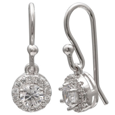 jcpenney.com | Silver Treasures Cubic Zirconia Drop Earrings