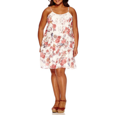 jcpenney.com | City Triangle Sleeveless Applique Sundress-Juniors