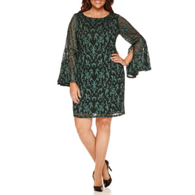 jcpenney.com | Tiana B Long Sleeve Sheath Dress-Plus