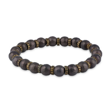 jcpenney.com | Mens Brown Hematite Stainless Steel Beaded Bracelet