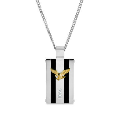 jcpenney.com | Mens White Cubic Zirconia Stainless Steel Pendant Necklace