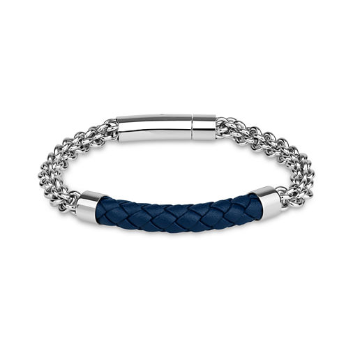 Mens 8.5 Inch Stainless Steel Link Bracelet