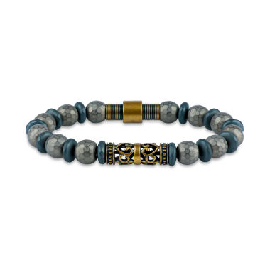 jcpenney.com | Mens Gray Hematite Beaded Bracelet
