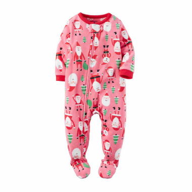 jcpenney.com | Carter's Girls Long Sleeve Footed Pajamas-Toddler
