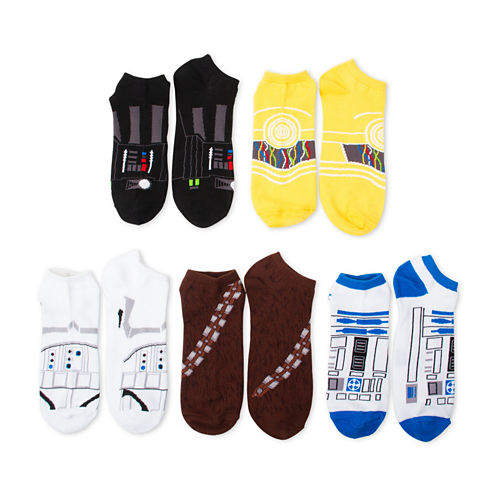 Boys 5-Pk. Star Wars No Show Socks