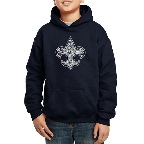 Los Angeles Pop Art Created Out Of The Entire Boy Scout Oath Hoodie-Big Kid Boys