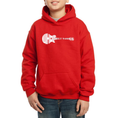 jcpenney.com | Los Angeles Pop Art Guitar Using Words Whole Lotta Love Hoodie-Big Kid Boys