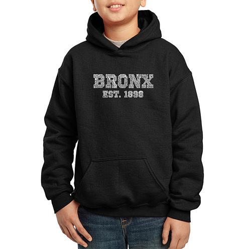 Los Angeles Pop Art Popular Bronx Ny Neighborhoods Hoodie-Big Kid Boys