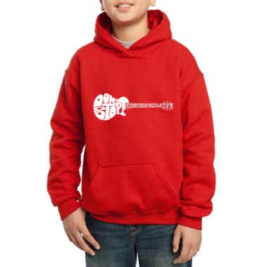 jcpenney.com | Los Angeles Pop Art Guitar From Words Don'T Stop Believin Hoodie-Big Kid Boys