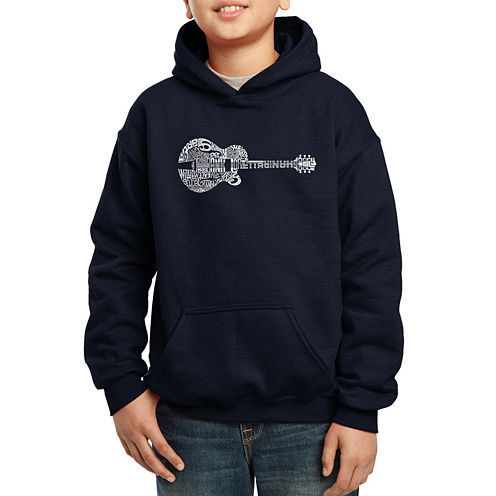 Los Angeles Pop Art Some Of Country Musics Legendary Names Hoodie-Big Kid Boys