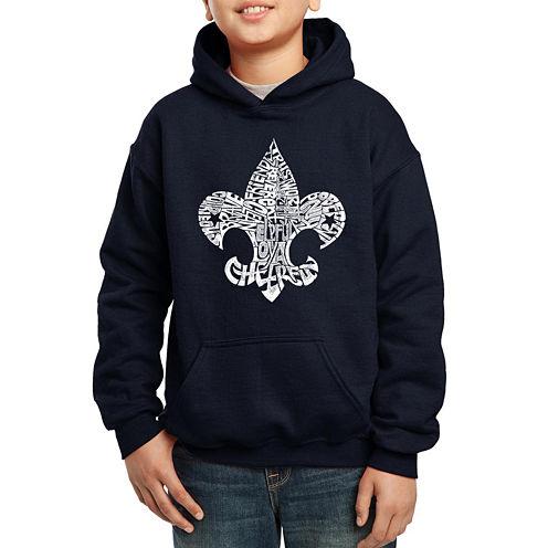 Los Angeles Pop Art Fleur De Lis From 12 Points Of Scout Law Hoodie-Big Kid Boys