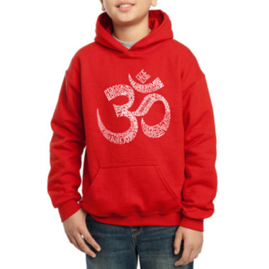 jcpenney.com | Los Angeles Pop Art Created Out Of Popular Yoga Poses Hoodie-Big Kid Boys