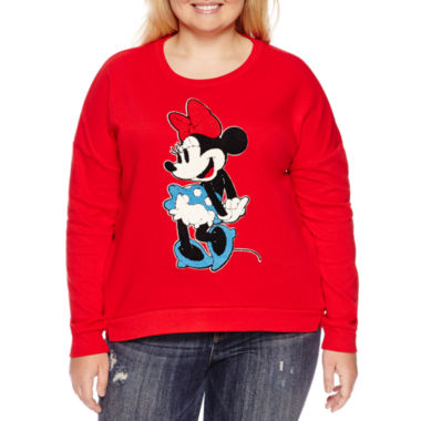 jcpenney.com | Long Sleeve Sweatshirt-Juniors Plus