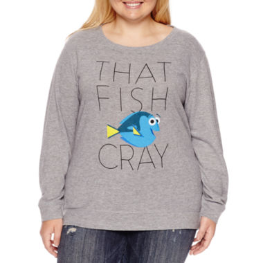 jcpenney.com | Finding Dory Brushed Fleece Sweatshirt- Juniors Plus