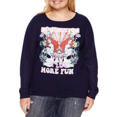 jcpenney.com | The Little Mermaid Brushed Fleece Sweatshirt- Juniors Plus
