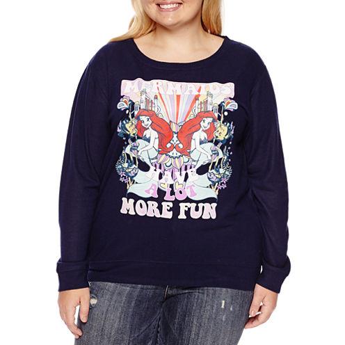 The Little Mermaid Brushed Fleece Sweatshirt- Juniors Plus