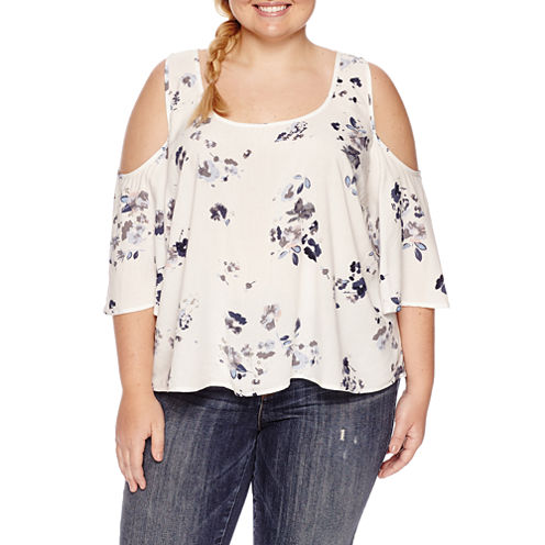 Arizona Cold Shoulder Top- Juniors Plus
