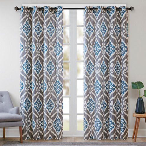 Madison Park Mika Grommet-Top Curtain Panel