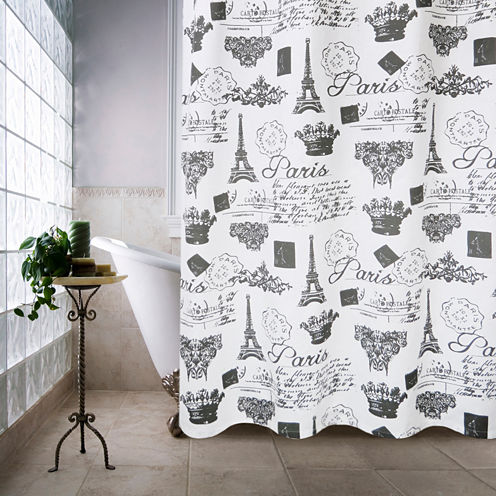 Park B Smith Paris Travels Shower Curtain