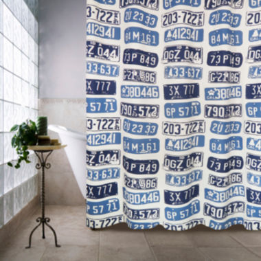 jcpenney.com | Park B Smith License Plates Shower Curtain