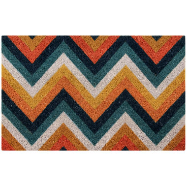 "jcpenney.com | Better Trends Chevron Printed Rectangle Doormat - 18""X28"""