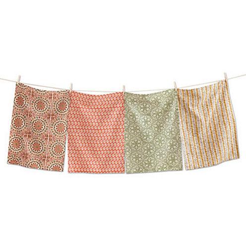Tag Thanksgiving Sundari Block Assorted 4-pc. Kitchen Towel