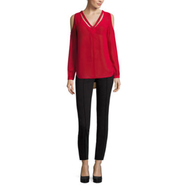 jcpenney.com | Nicole By Nicole Miller Long Sleeve Cold Shoulder Top or Ankle Pants